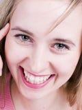 Mooie glimlachende vrouw Stock Afbeeldingen