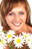 Mooie glimlachende vrouw Royalty-vrije Stock Afbeeldingen