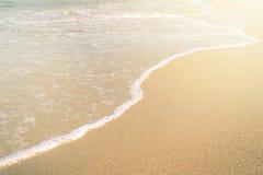 Mooie golf in het strand Royalty-vrije Stock Afbeelding