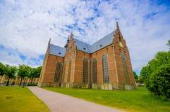 Mooie gotische kerk in Kristianstad, Zweden Stock Foto's