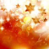 Mooie gouden Kerstmissterren Royalty-vrije Stock Foto's