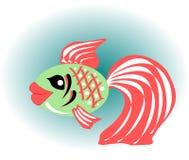 Mooie gouden vissen met rode vinnen Stock Afbeeldingen