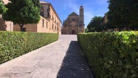 Mooie Gr Salvador Chapel in Ubeda, Spanje stock videobeelden