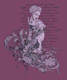 Mooie Grafische Vrouw Stock Afbeeldingen