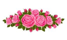 Mooie grens van rozen Royalty-vrije Stock Afbeeldingen