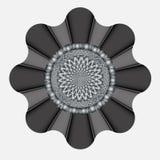 Mooie grijze decoratie in de vorm van een bloem royalty-vrije illustratie