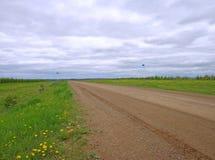 Mooie groene gebiedsweg Stock Foto
