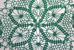 Mooie groene met de hand gemaakte gehaakt stock fotografie