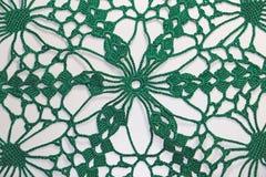Mooie groene met de hand gemaakte gehaakt royalty-vrije stock fotografie