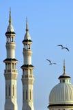 Mooie groene moskee royalty-vrije stock afbeeldingen
