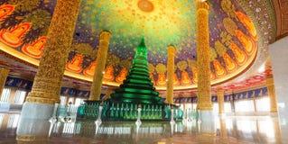 Mooie groene pagode in Bangkok Thailand Stock Afbeelding