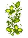 Mooie groene vlinder Stock Afbeeldingen