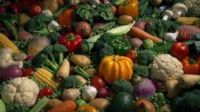 Mooie Groenten in Artistieke Verlichting - Dieet Wellness stock videobeelden