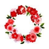 Mooie groetkaart met bloemenkroon Royalty-vrije Stock Foto