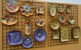 Mooie Hand Geschilderde Platen in Evora, Portugal Royalty-vrije Stock Fotografie