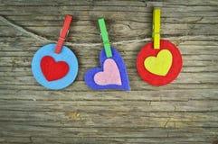 Mooie harten royalty-vrije stock afbeelding