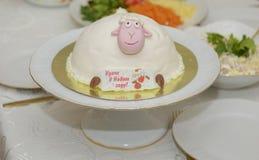 Mooie heerlijke cake Stock Foto