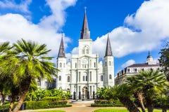 Mooie Heilige Louis Cathedral in het Franse Kwart in Nieuwe Orl Stock Afbeeldingen