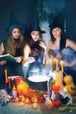 Mooie heksen Stock Afbeeldingen