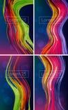 Mooie heldere abstracte achtergronden royalty-vrije illustratie