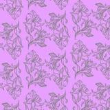 Mooie heldere achtergrond met geschilderde bloemen Stock Foto's