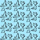 Mooie heldere achtergrond met geschilderde vogelsduif Royalty-vrije Stock Foto's