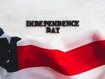 Mooie, heldere kaart voor Onafhankelijkheidsdag Close-up royalty-vrije stock afbeelding
