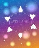 Mooie heldere Kerstmisachtergrond Stock Foto's