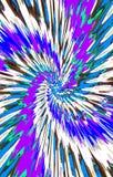 Mooie heldere kleurrijke achtergrond De vlekken divergeren van het midden in een spiraal aan de randen stock illustratie