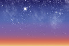 Mooie hemel bij dageraad stock afbeelding