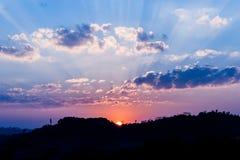 Mooie hemel bij zonsondergang Royalty-vrije Stock Foto