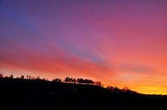 Mooie hemel bij zonsondergang Royalty-vrije Stock Foto's