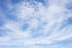 Mooie hemel in de zonnige dag Royalty-vrije Stock Afbeelding