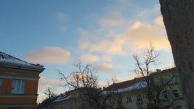 Mooie hemel en beautifuly witte wolken stock fotografie
