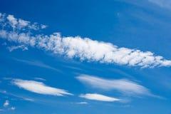 Mooie hemel met wolken royalty-vrije stock foto's
