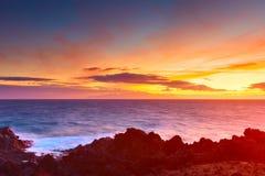 Mooie hemel na zonsondergang Stock Foto