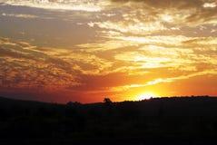 Mooie hemel na zonsondergang Stock Foto's