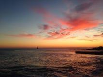 Mooie hemel na zonsondergang Stock Afbeeldingen
