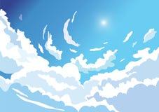 Mooie hemelachtergrond van wolken stock illustratie