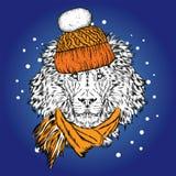 Mooie herten met Kerstmisballen op de glazen Vector illustratie stock illustratie