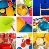 Mooie het schilderen collage Royalty-vrije Stock Foto's
