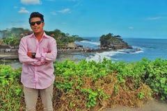 Mooie het strandoverzees van paradijsbali Stock Afbeeldingen