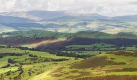 Mooie heuvels in Wales Stock Afbeeldingen