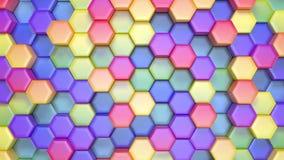 Mooie Hexagonale Multicolored Achtergrond, Naadloze het Van een lus voorzien 3d Animatie, 4K zoek meer opties in mijn portefeuill stock illustratie