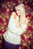 Mooie Hippy-Vrouw Stock Afbeeldingen