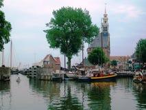 Mooie historische en havenstad Hoorn in Holland, Nederland stock fotografie