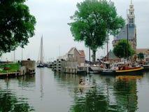 Mooie historische en havenstad Hoorn in Holland, Nederland stock afbeeldingen