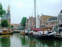 Mooie historische en havenstad Hoorn in Holland, Nederland royalty-vrije stock foto's