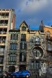 Mooie historische huizen in Brussel Stock Afbeeldingen