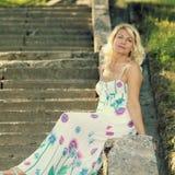 Mooie hogere blondevrouw Stock Fotografie